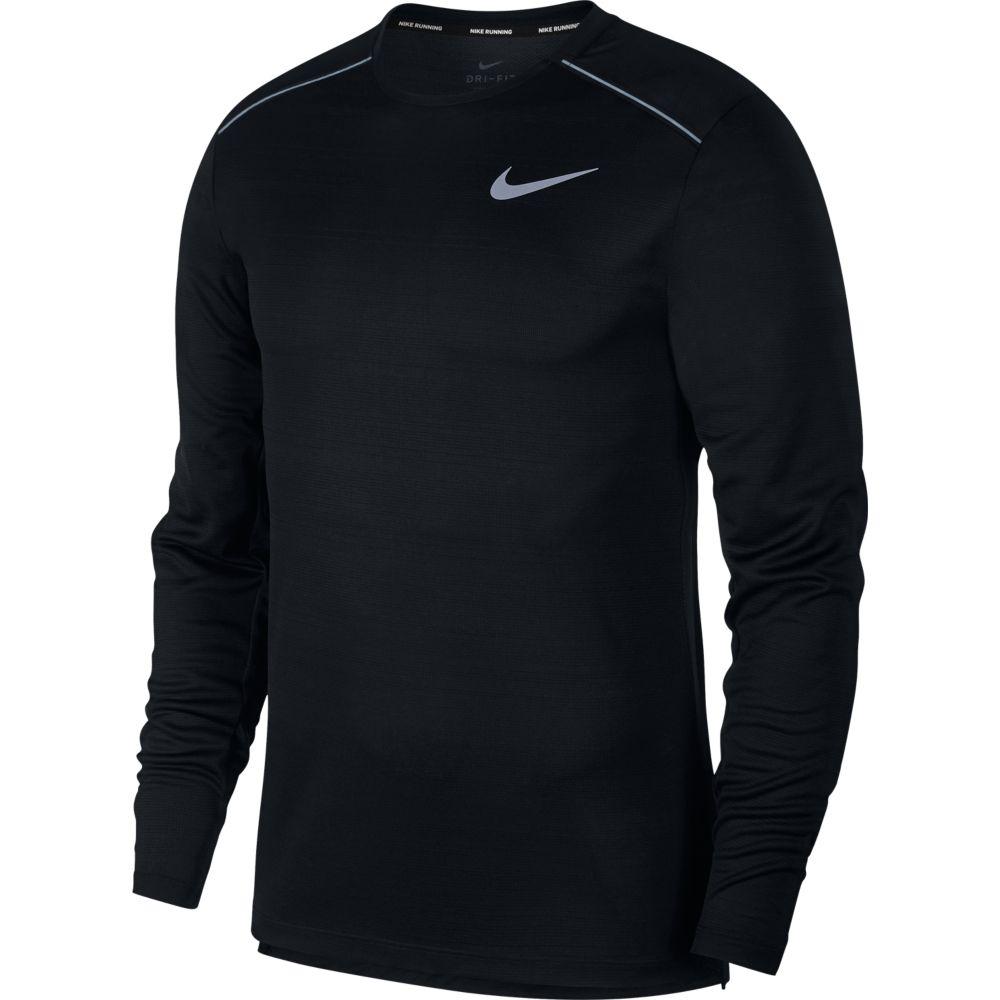 Camiseta Manga Longa Nike DRY Miler TOP LS Preto