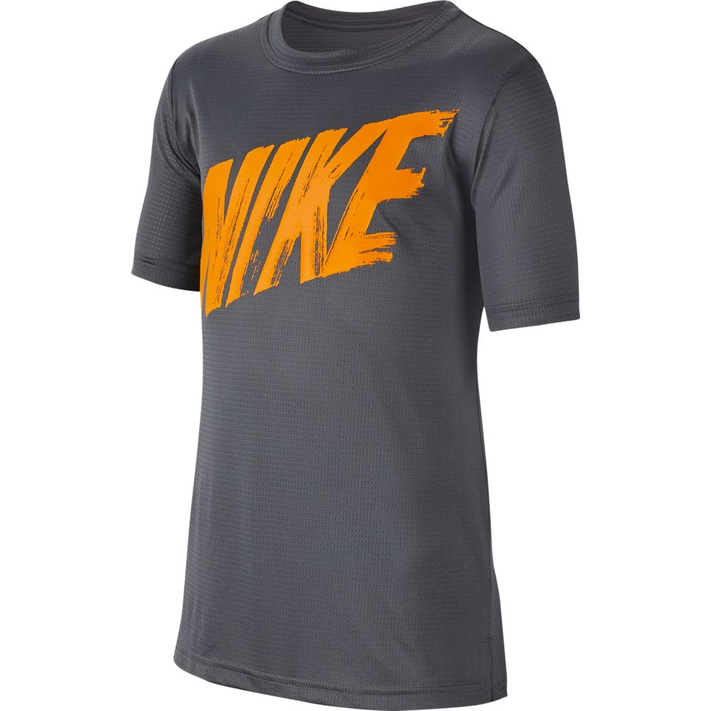 Camiseta Nike Breathe TOP SS Infantil DARK GREY