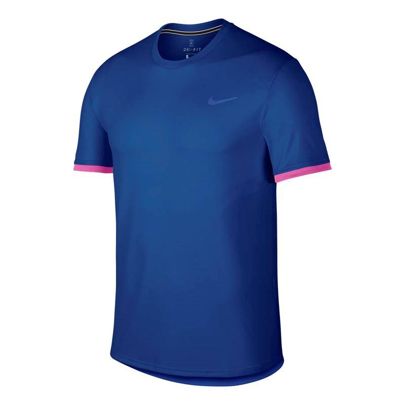 Camiseta Nike Court DRY TOP SS Indigo Force