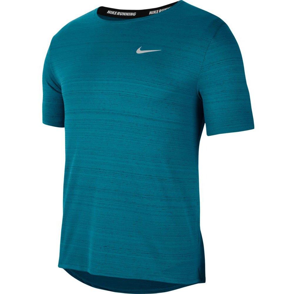 Camiseta Nike DRI FIT Miler TOP SS AZUL Petroleo