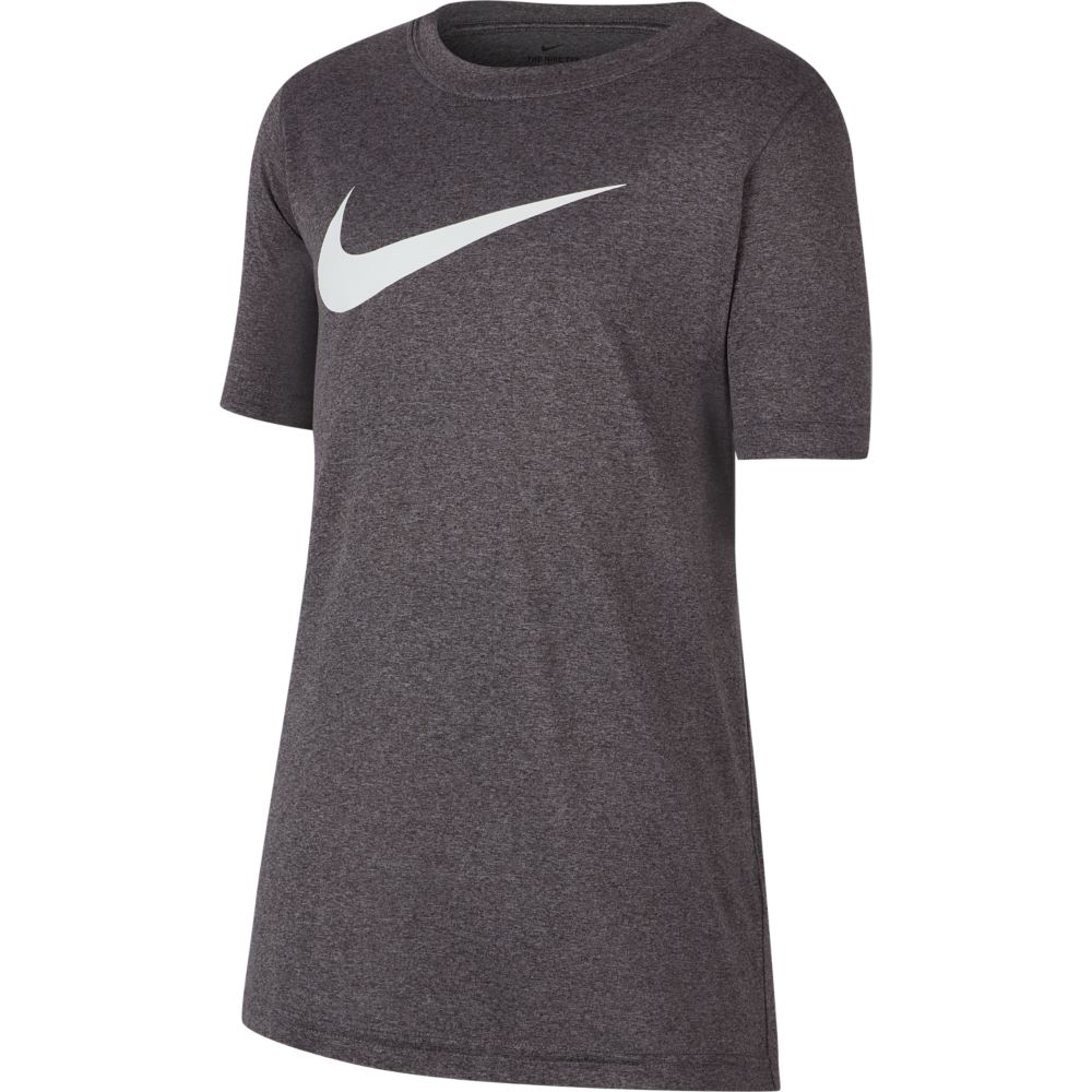 Camiseta Nike DRY Tee Swoosh Infantil Charcoal Heathr