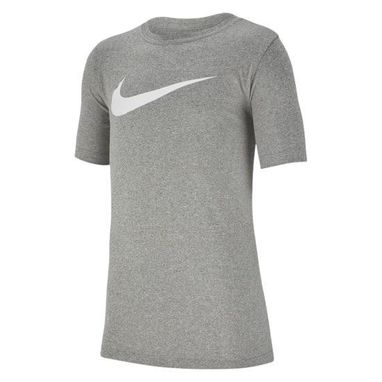 Camiseta Nike DRY Tee Swoosh Infantil Cinza