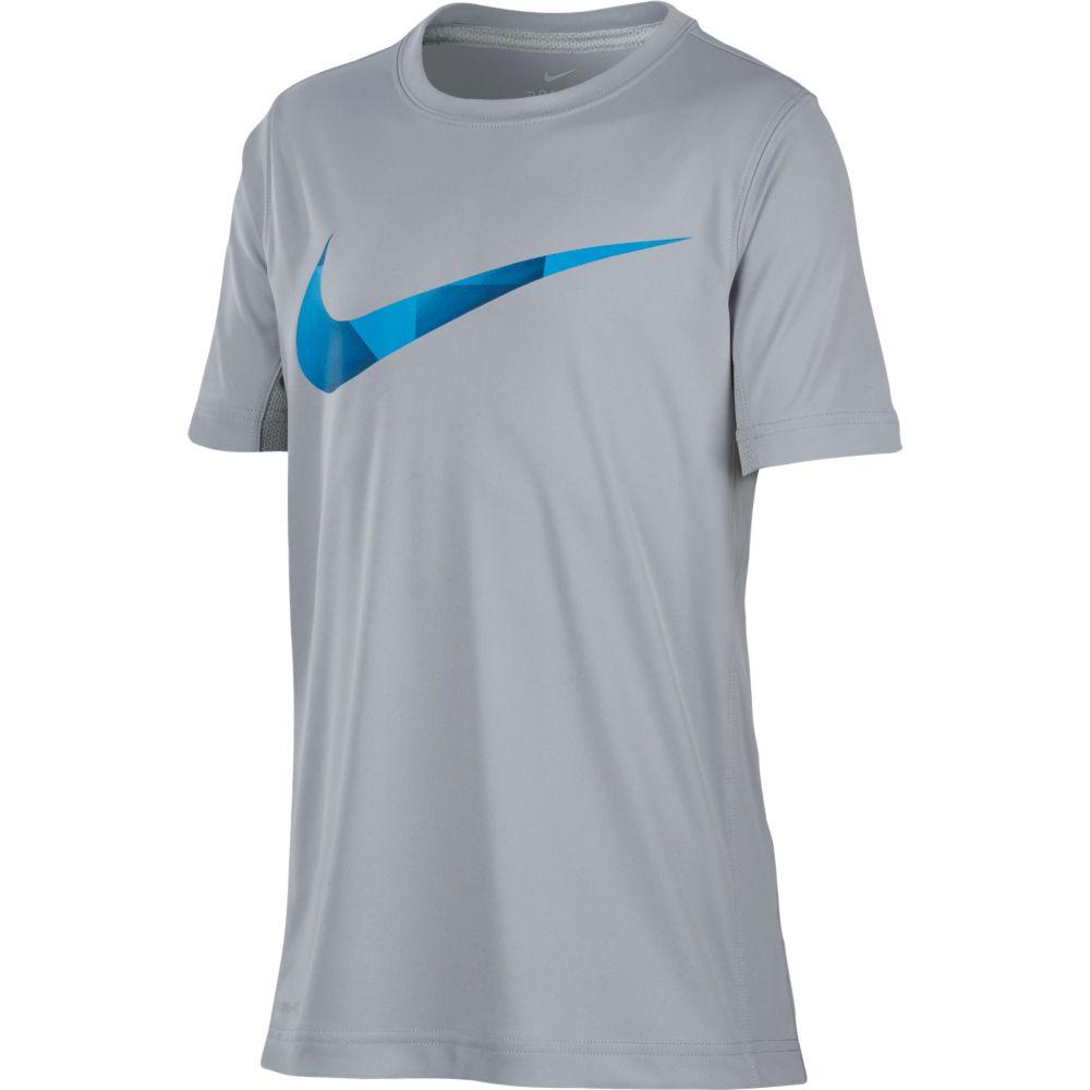 Camiseta Nike DRY TOP SS GFX Infantil Cinza