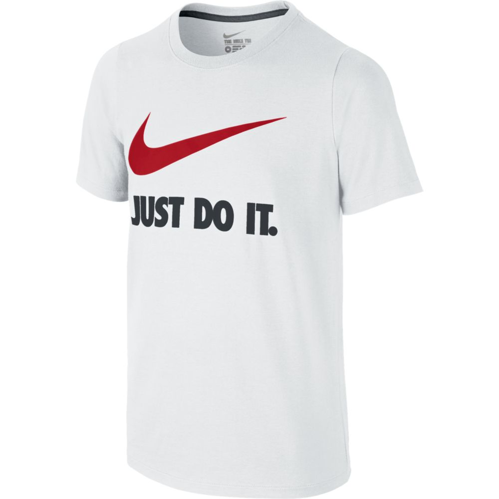Camiseta Nike JUST do IT Swoosh Infantil Branca