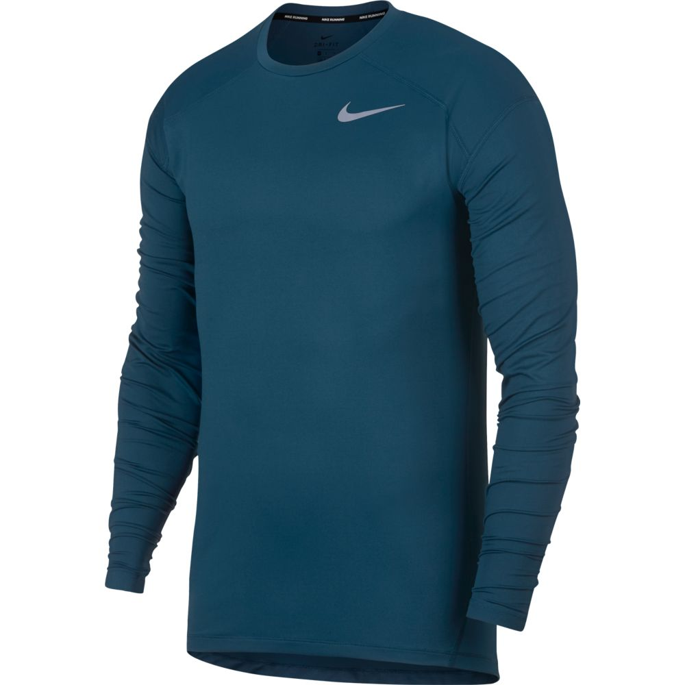 Camiseta Nike Manga Longa DRY ELEMENT CREW Blue Force G