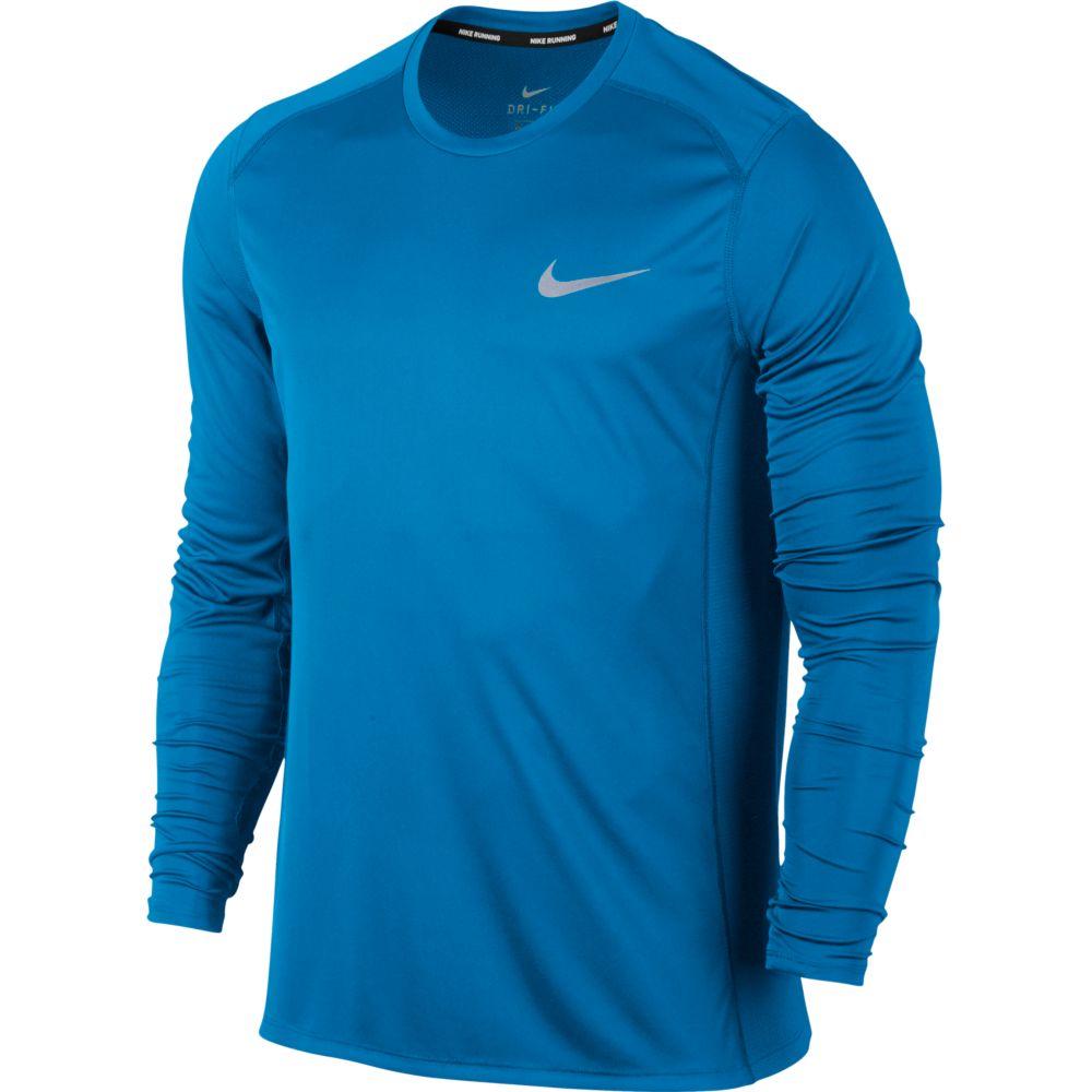 Camiseta Nike Manga Longa DRY Miler TOP LS Equator Blue