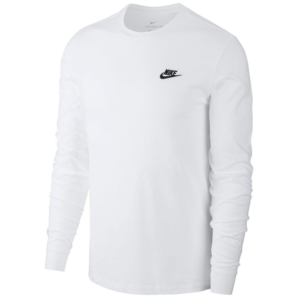 Camiseta Nike Manga Longa NSW CLUB Tee Branca