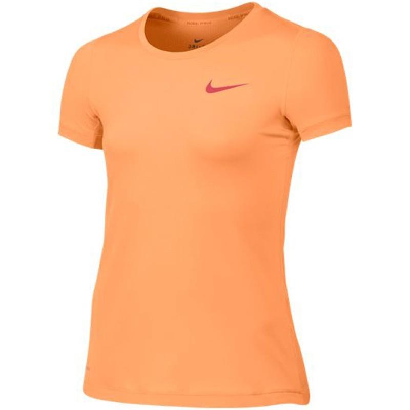 Camiseta Nike PRO Cool TOP Infantil Feminina Pessego