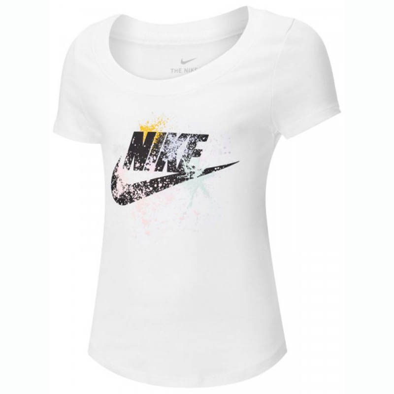 Camiseta Nike Sportswear Infantil Feminina Branca