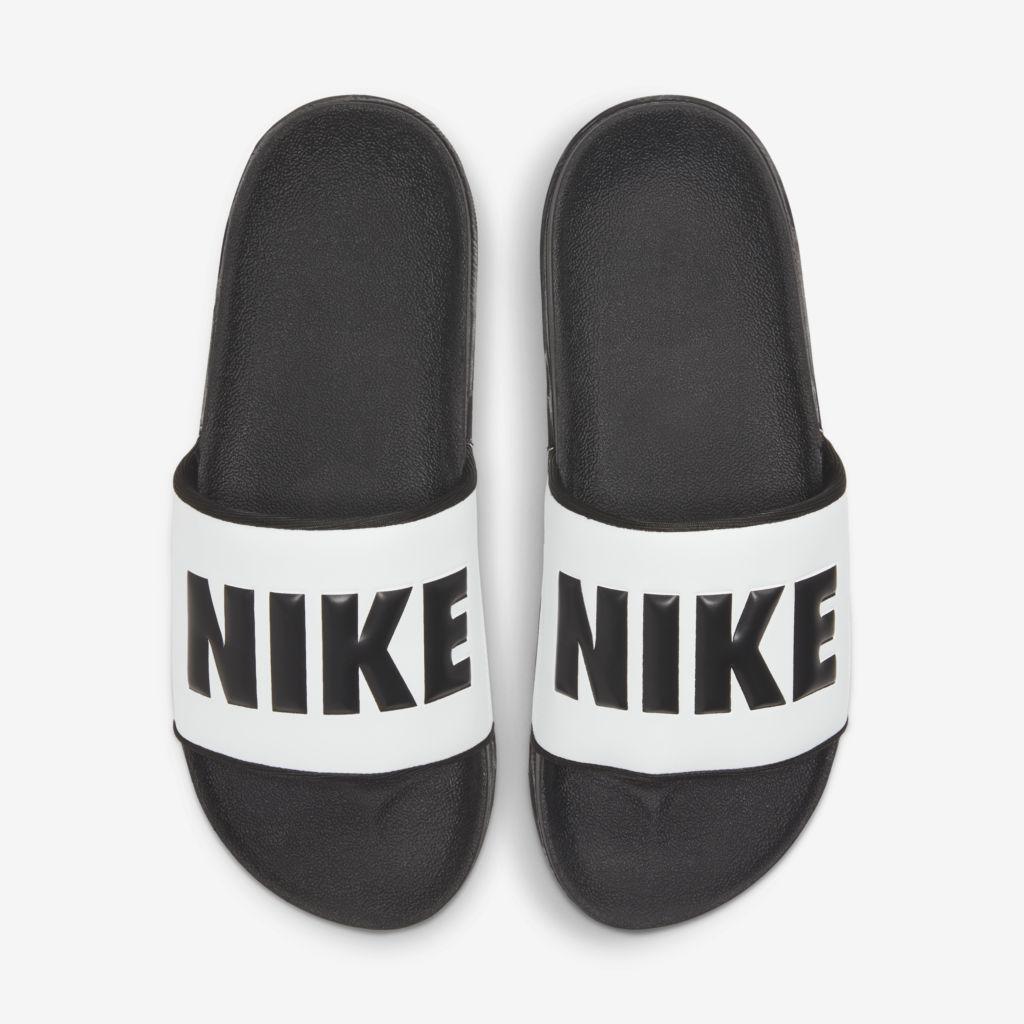 Chinelo Nike Offcourt Slide Feminino Branco e Preto