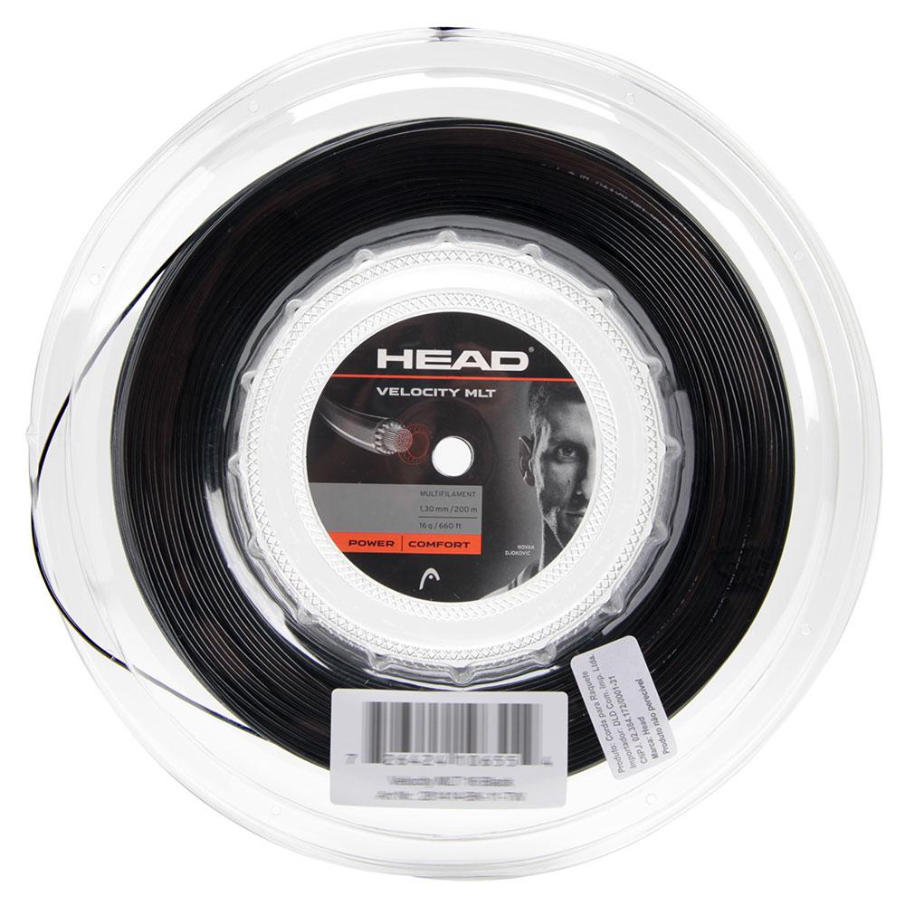Corda de Tenis Head Velocity MLT Preta 1.30MM / 16 Rolo com 200M