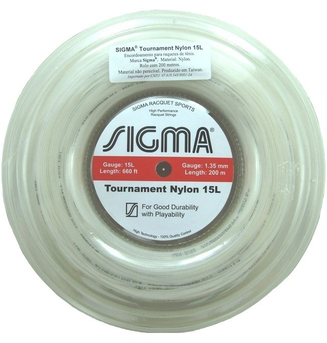 Corda de Tenis Sigma NYLON 1,35MM Rolo 200M AZUL