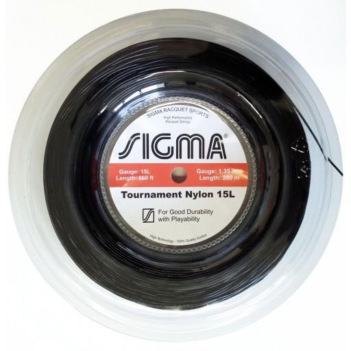 Corda de Tenis Sigma NYLON 1,35MM Rolo 200M Preto