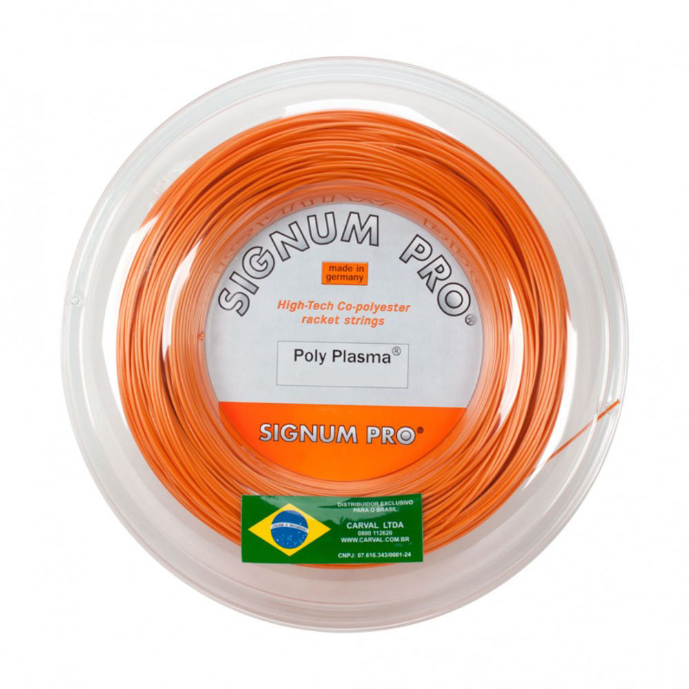 Corda de Tenis Signum PRO POLY Plasma 1.23MM Rolo com 200M