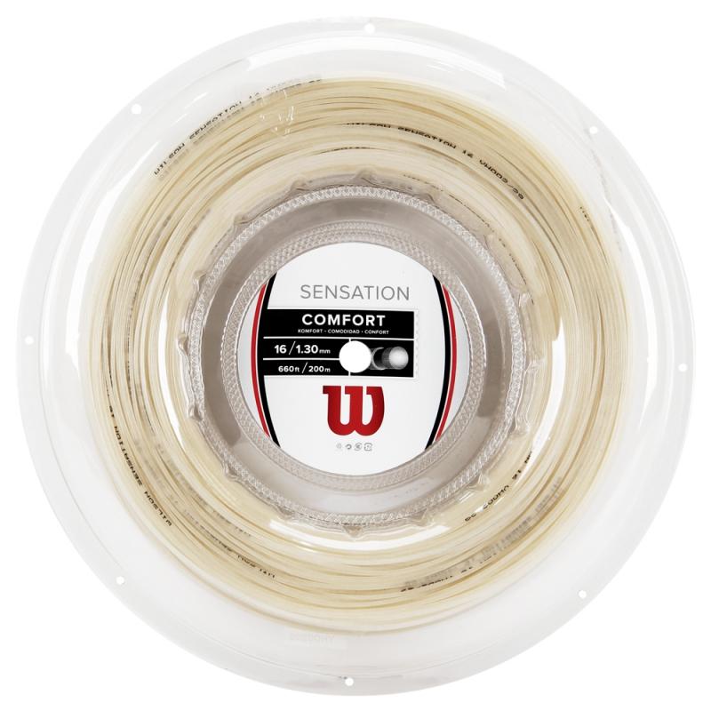 Corda de Tenis Wilson Sensation 16 (1.30MM) Rolo com 200M