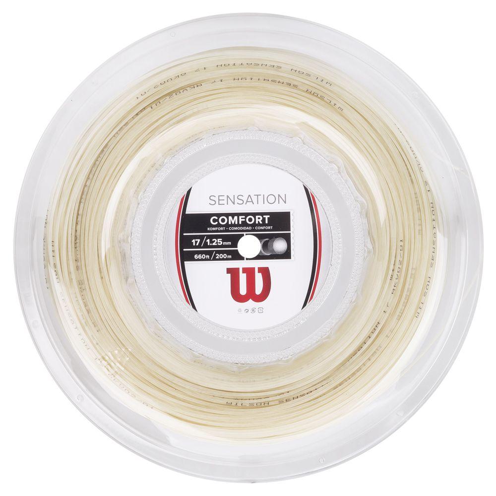 Corda de Tenis Wilson Sensation 17 (1.25MM) Rolo com 200M