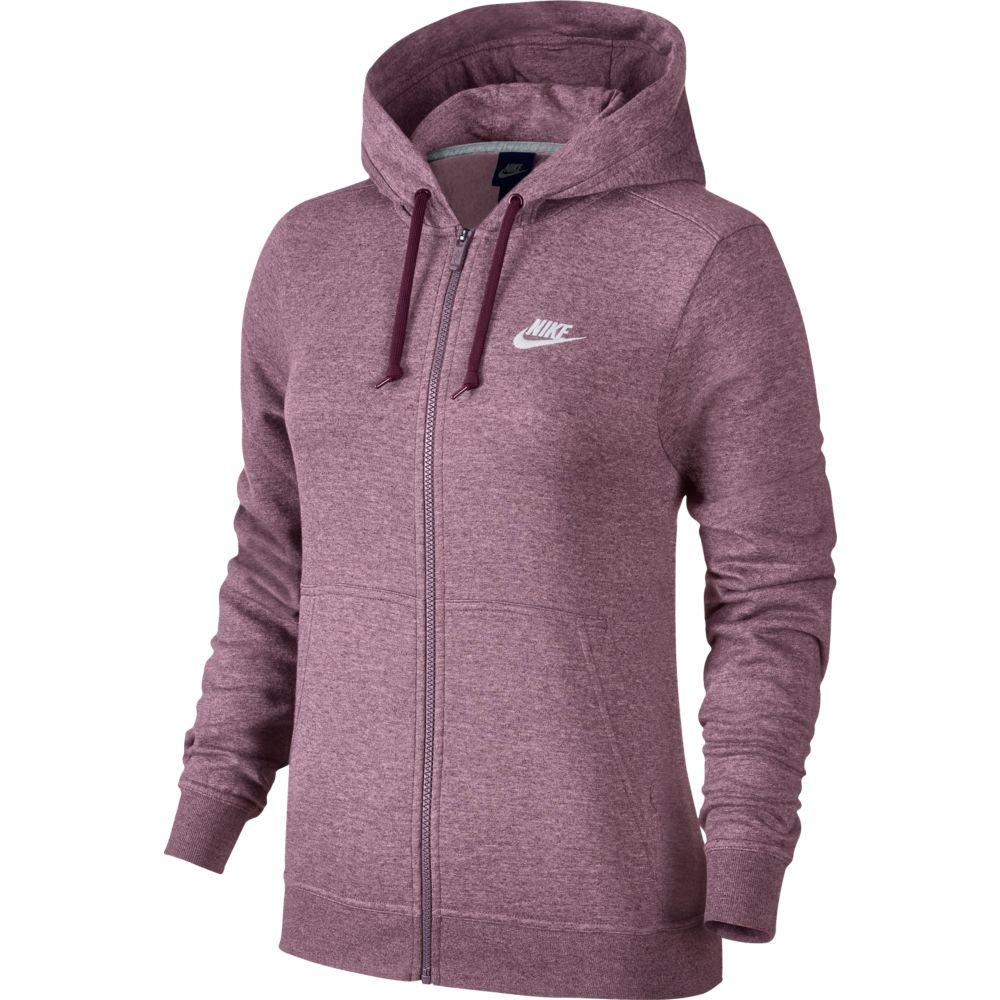 Jaqueta Nike Hoodie Fleece com Capuz Feminina Purple