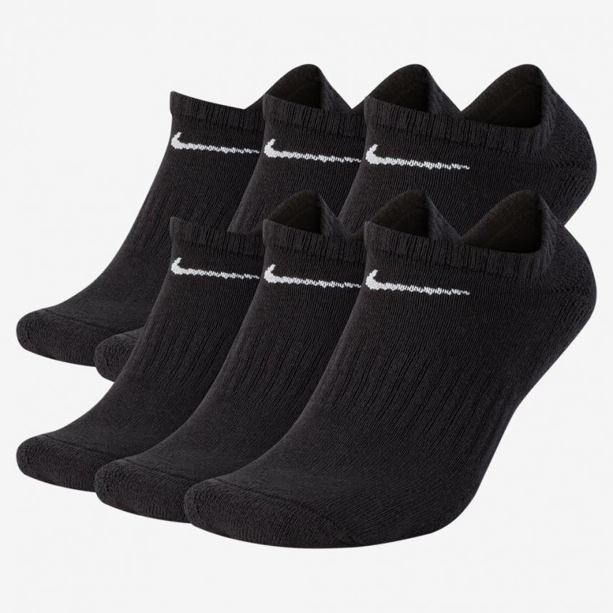 Meia Nike Everyday sem Cano Preta PACK com 6 Pares 39-43 G