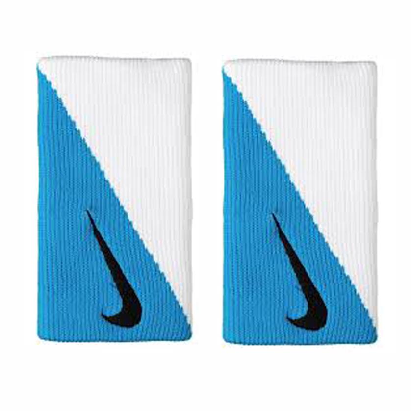Munhequeira Nike Doublewide DRI FIT 2.0 TURQUESA/BRANCO