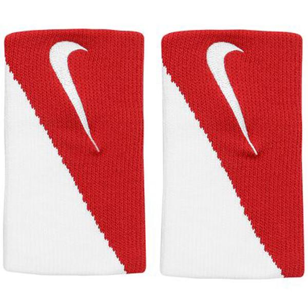 Munhequeira Nike Doublewide DRI FIT 2.0 Vermelho e Branco