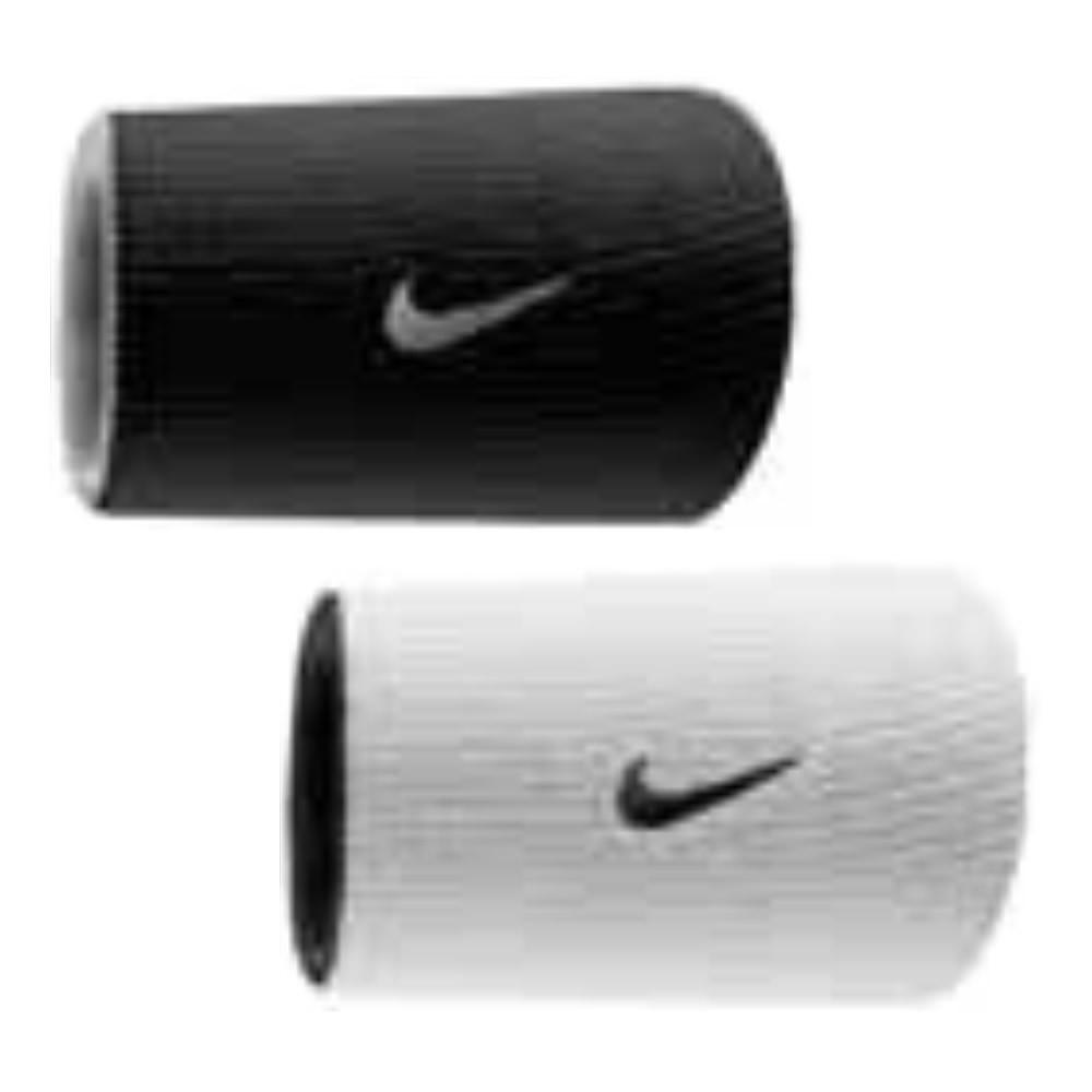 Munhequeira Nike Dupla Face DRI FIT BRANCA/PRETA