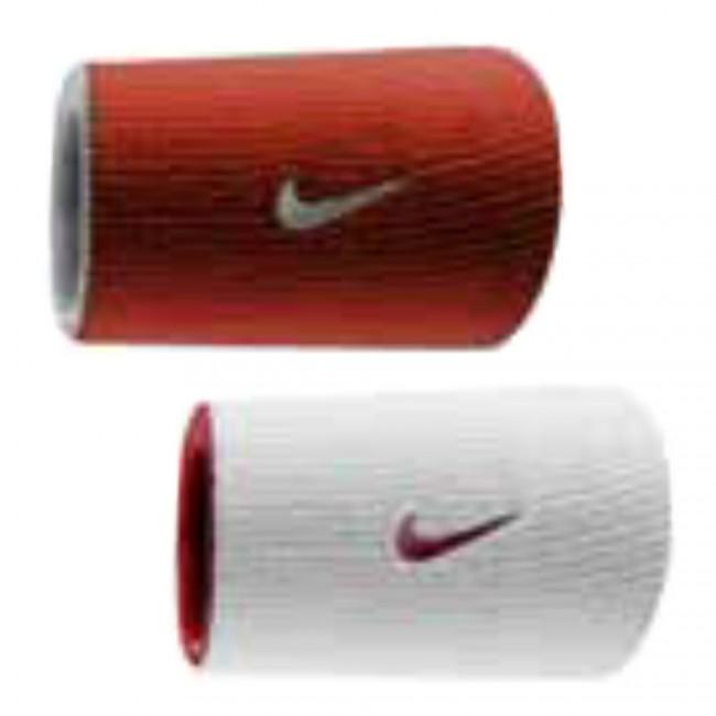 Munhequeira Nike Dupla Face DRI FIT VERMELHA/BRANCA