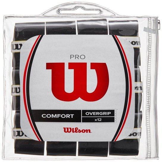 Overgrip Wilson PRO Preto 12 Unidades
