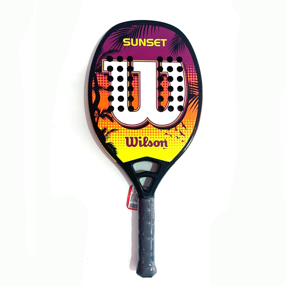 Raquete de Beach Tennis Wilson Sunset Laranja e Amarelo