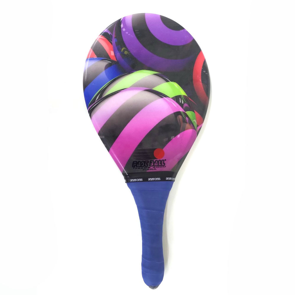 Raquete de Frescobol FAST BALL Fibra Cores