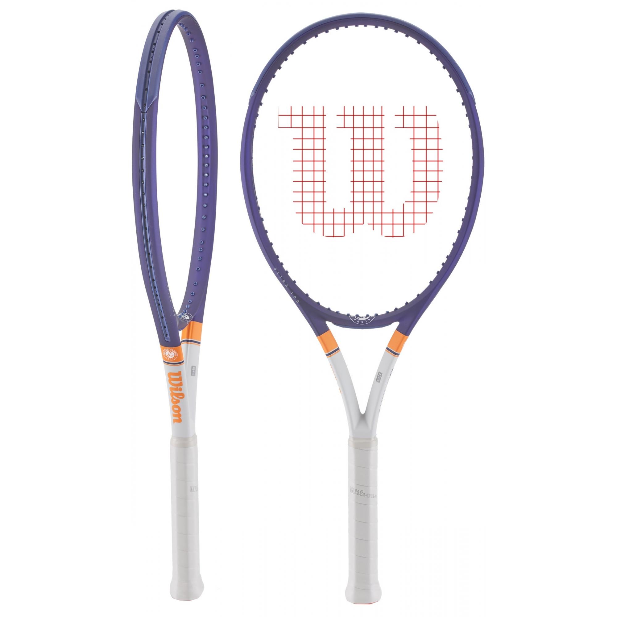 Raquete Wilson ULTRA 100 Roland Garros V3
