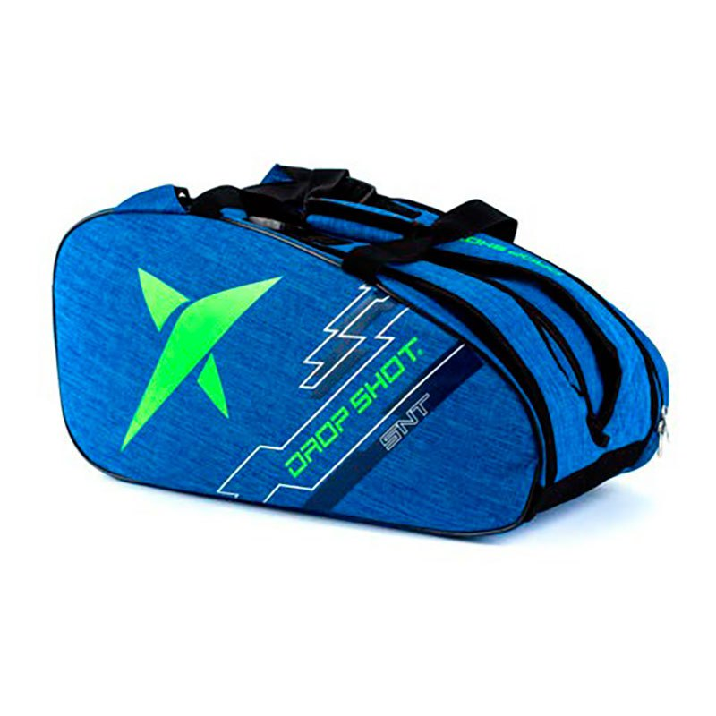 Raqueteira de Beach Tennis DROP SHOT Essential AZUL e Verde