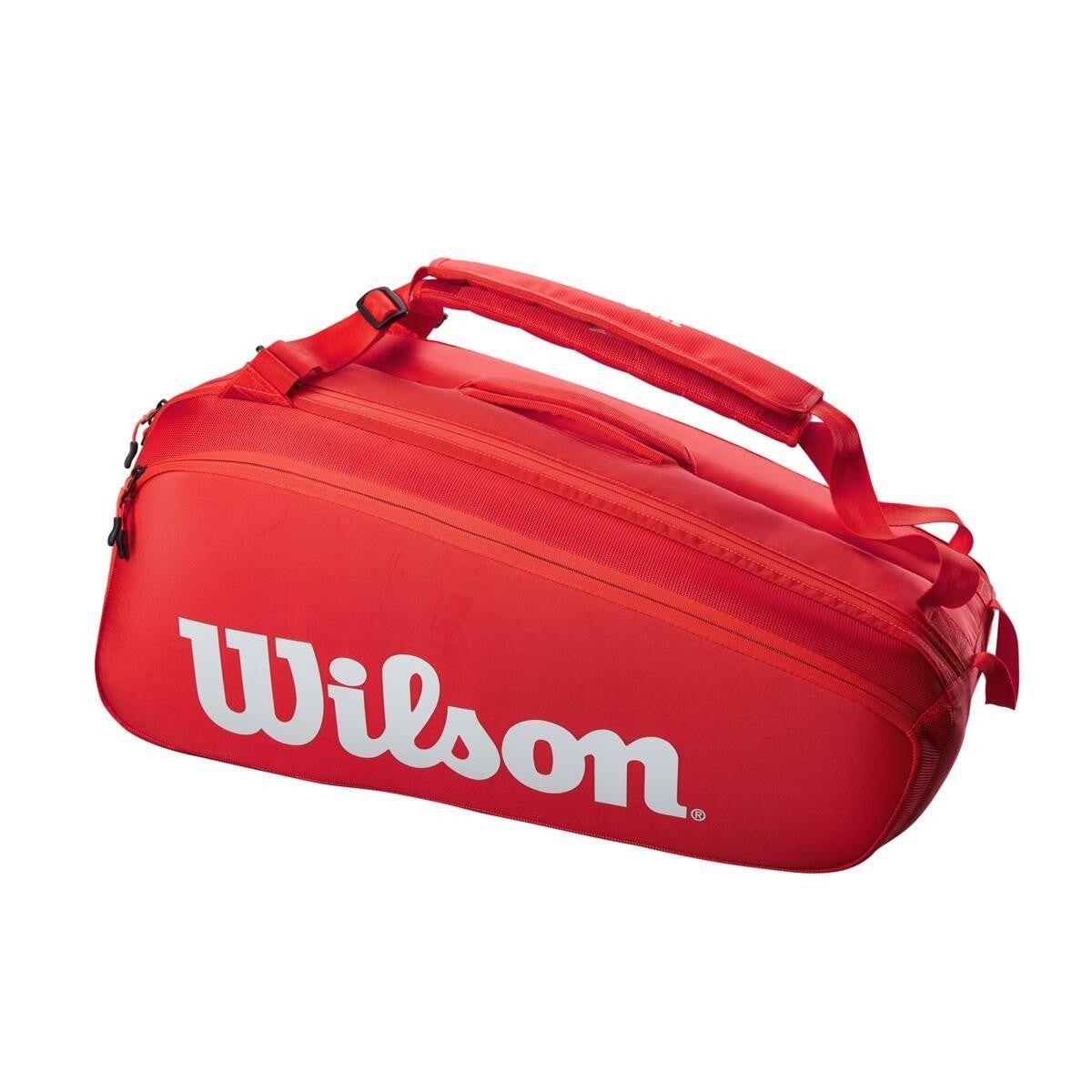 Raqueteira Wilson Super Tour Vermelha X9