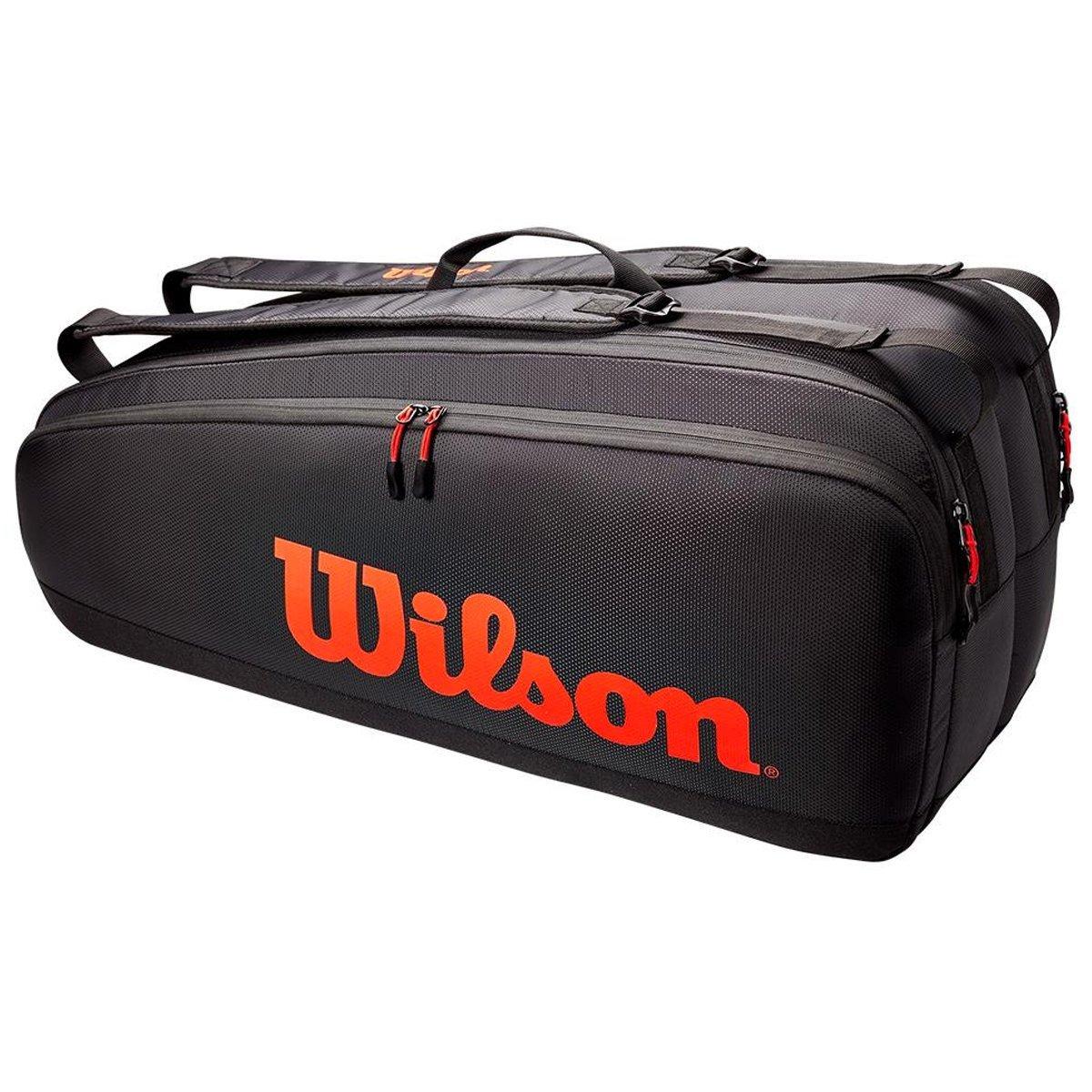 Raqueteira Wilson Tour Preto e Vermelho X6
