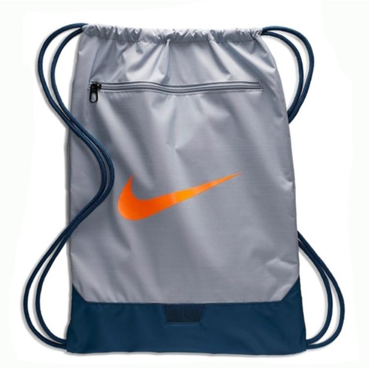 Sacola Nike Brasilia GYMSACK 9.0 CINZA/AZUL