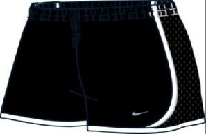 Shorts Nike Tempo TRACK II Feminino Preto