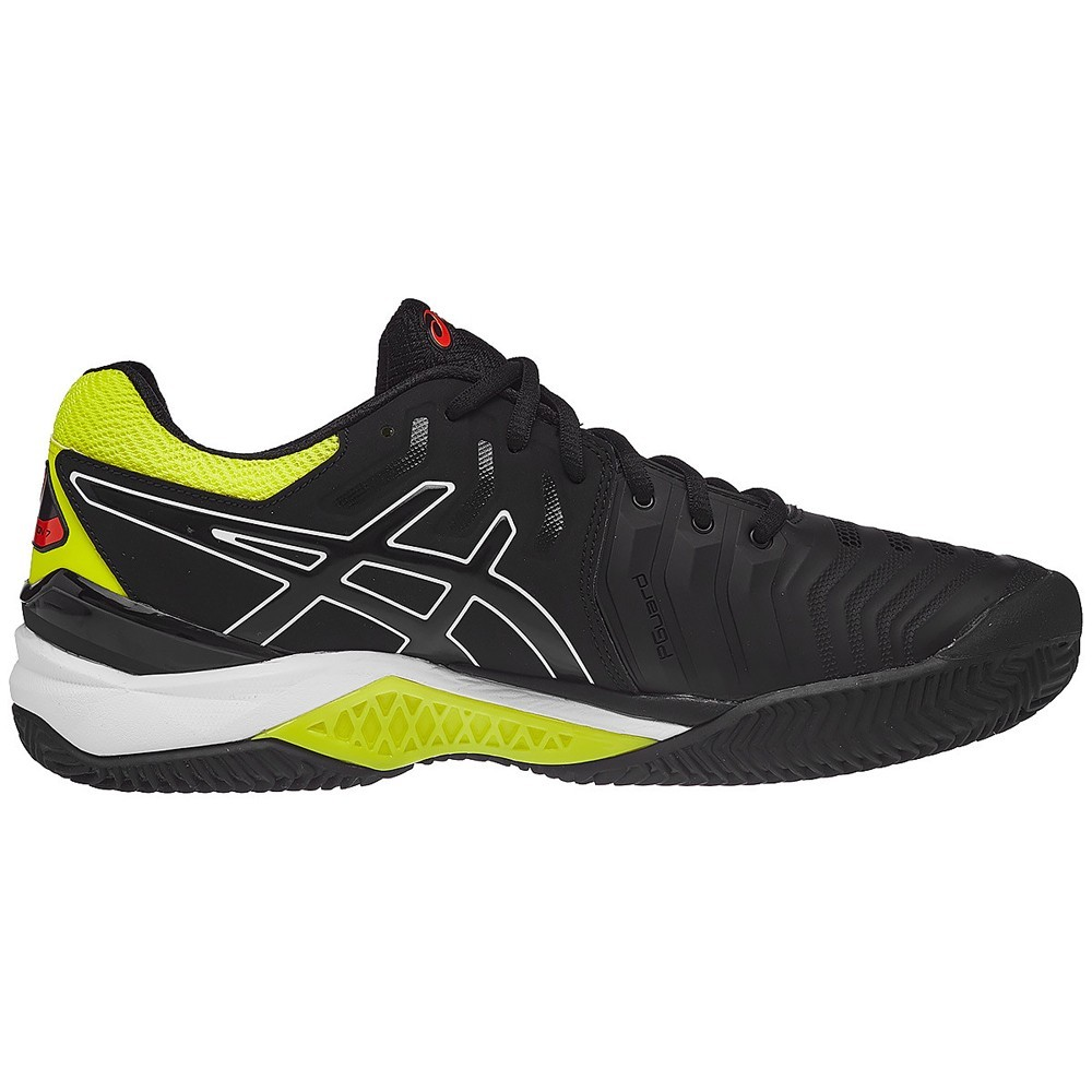Tenis ASICS GEL Resolution 7 CLAY Preto e Amarelo
