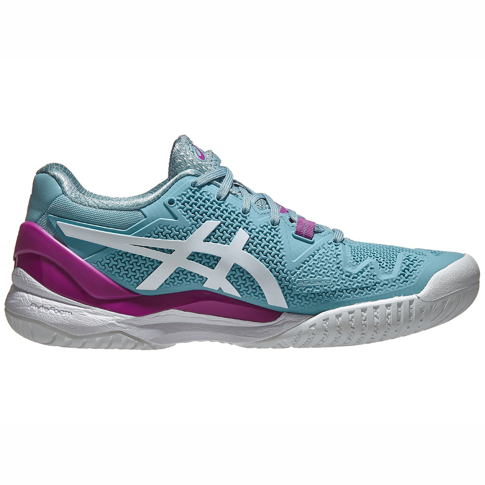 Tenis ASICS GEL Resolution 8 Smoke BLUE/WHITE Feminino