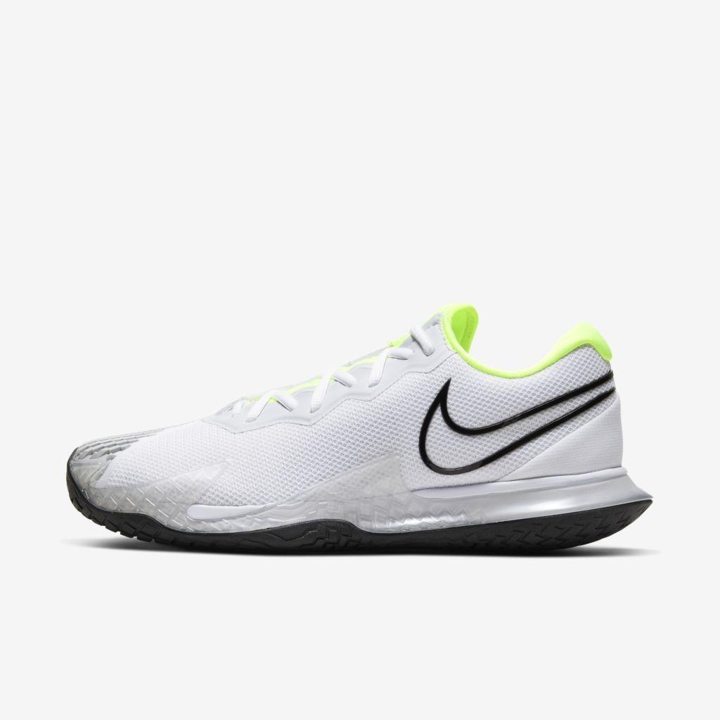 Tenis Nike AIR Zoom Vapor Cage 4 Branco e Verde Limao