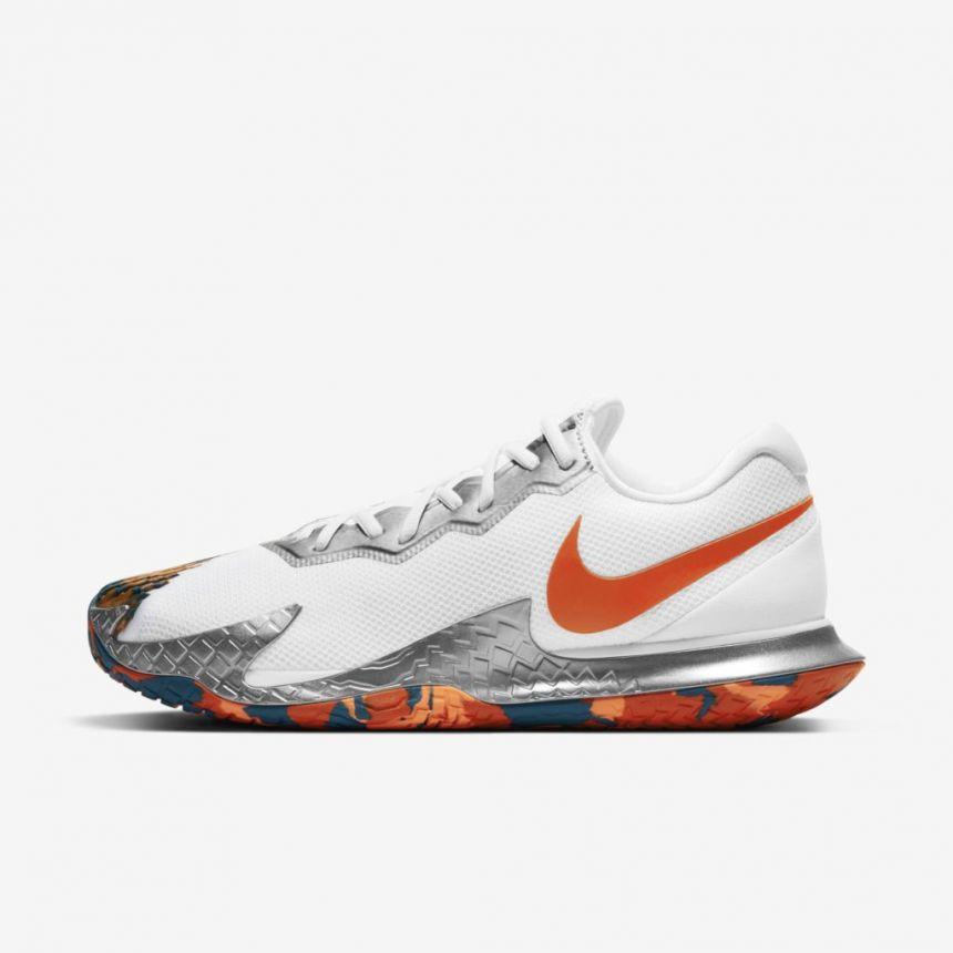 Tenis Nike AIR Zoom Vapor Cage 4 BRANCO/LARANJA/GREEN ABYSS