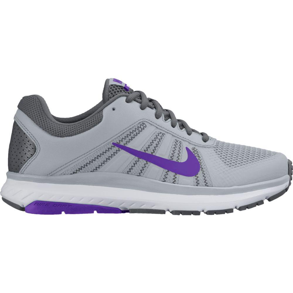 Tenis Nike DART 12 MSL Feminino Cinza e Roxo