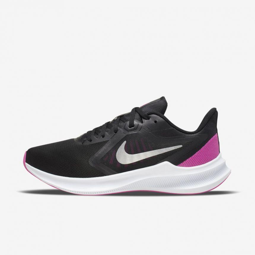 Tenis Nike Downshifter 10 Preto e PINK Feminino