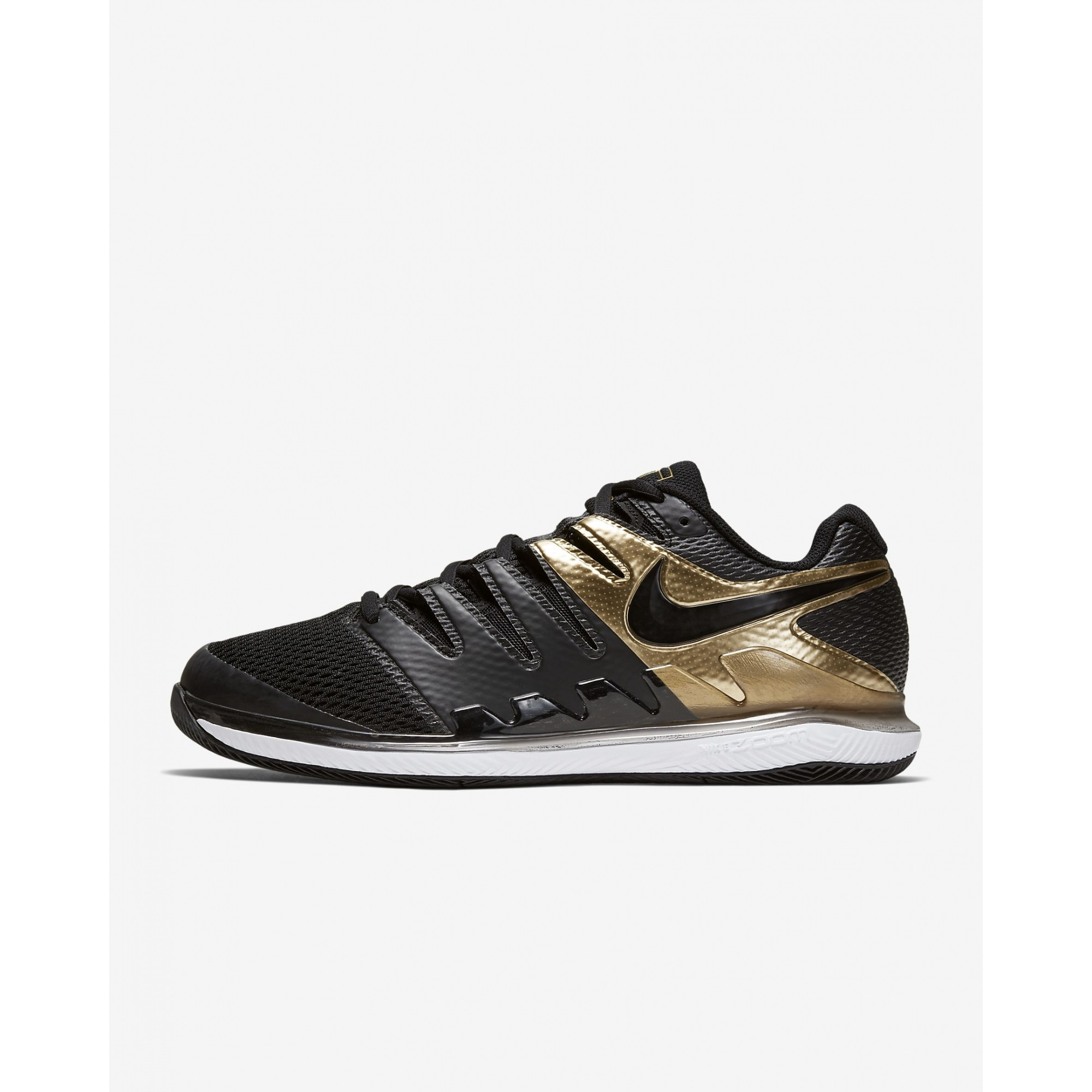 Tenis Nike Zoom Vapor 10 HC Preto e Dourado