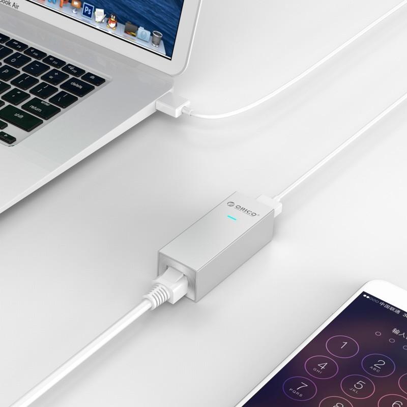 Adaptador de Alumínio USB3.0/Type-C para Ethernet RJ45 - ASL-U3