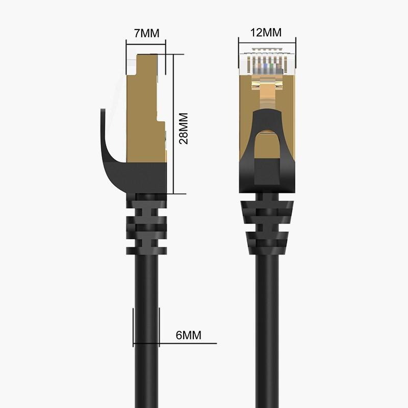 Cabo de Rede Ethernet 10000Mbps - CAT 7 - Blindado - 10 metros - PUG-C7-100