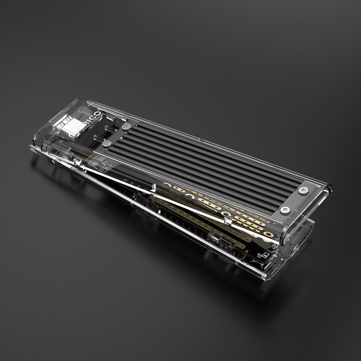 Case Externo para SSD M.2 NGFF - USB3.1 Type-C - TCM2F-C3