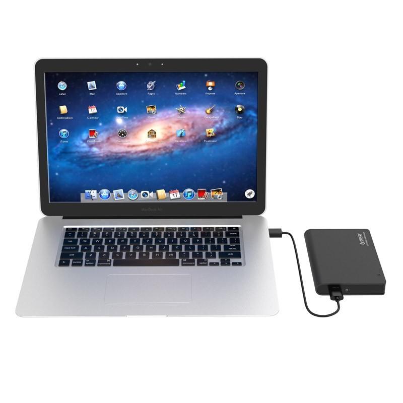 Case / Gaveta de Alumínio para HD/SSD SATA 2.5 USB 3.0 - Type-C - 2598C3