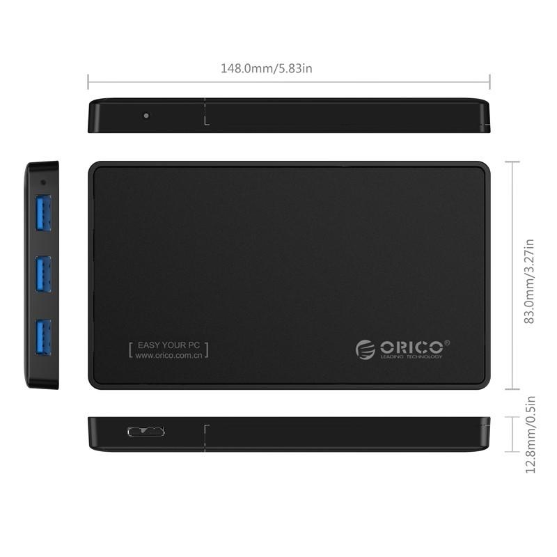 Case / Gaveta para HD SATA 2.5 com Hub USB 3.0 - 2588H3