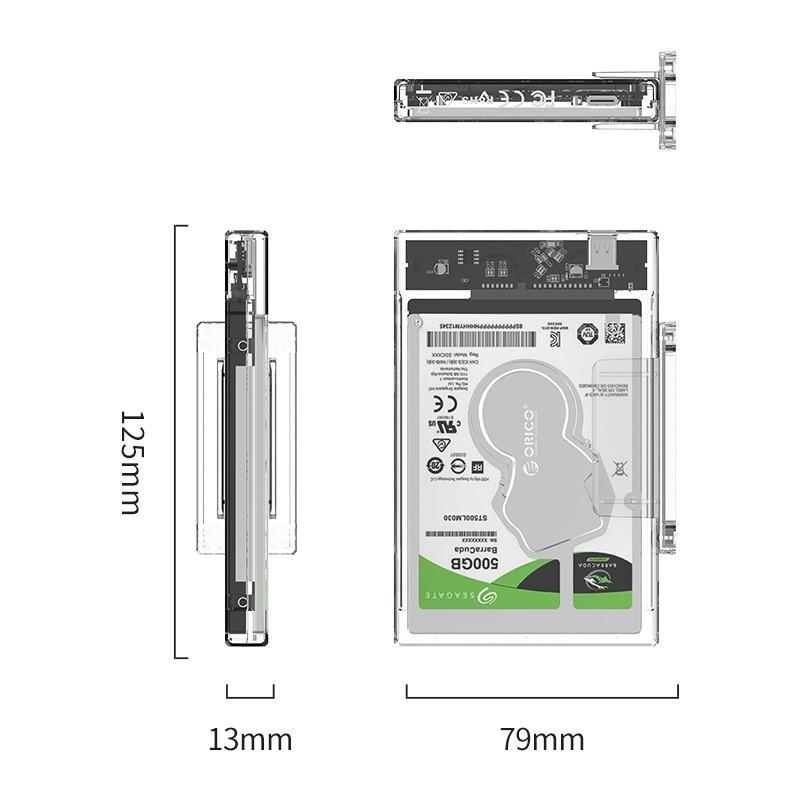 Case / Gaveta para HD SATA 2.5 Type C 3.1 - 2159C3-G2