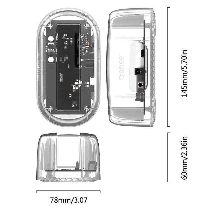 Dock Station SATA 3.5 USB3.0 Transparente - 6139C3-G2