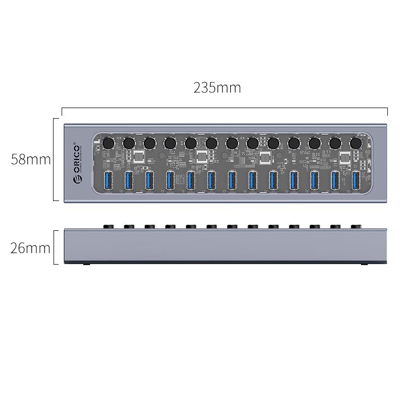 Hub 13 portas com switches individuais AT2U3-13AB